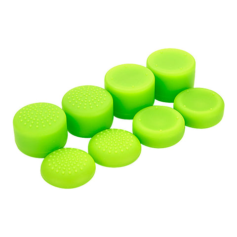 8 Green Silicone Rubber Precision Platporm Raised Analog Sticks Thumb Grips for PlayStation 4 PS4 PS4 Slim PS4 Pro Thumbsticks-ZXBJ1236