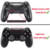 Multi-Colors Luminated D-pad L1 R1 R2 L2 Trigger Thumbsticks Home Face Buttons DTFS (DTF 2.0) LED Kit for PS4 CUH-ZCT2 Controller - 10 Colors Modes 7 Areas DIY Option Button Control - P4LED01