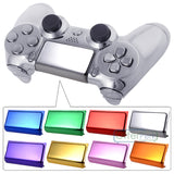 Custom Chrome Orange Replacement Touch Pad For Dualshock Sony PS4 Wireless Controller-P4J0608