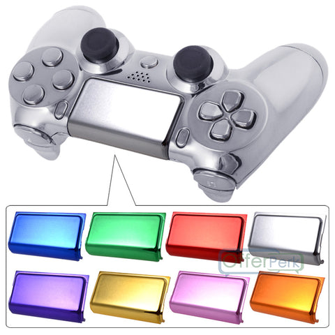 Custom Chrome Blue Replacement Touch Pad For Dualshock Sony PS4 Wireless Controller-P4J0604