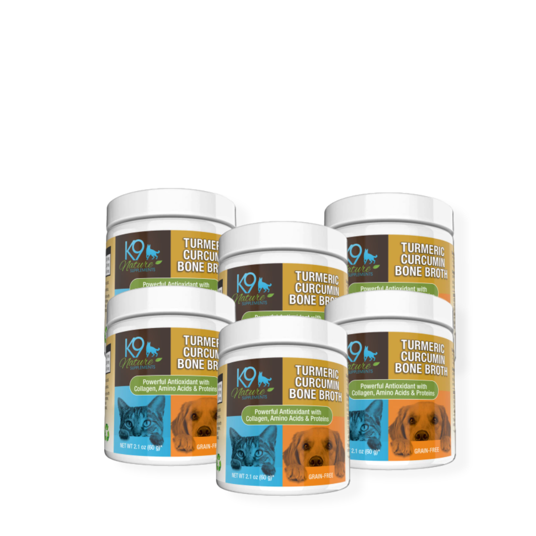 Turmeric Curcumin Bone Broth For Pets 6-Pack 30% Off