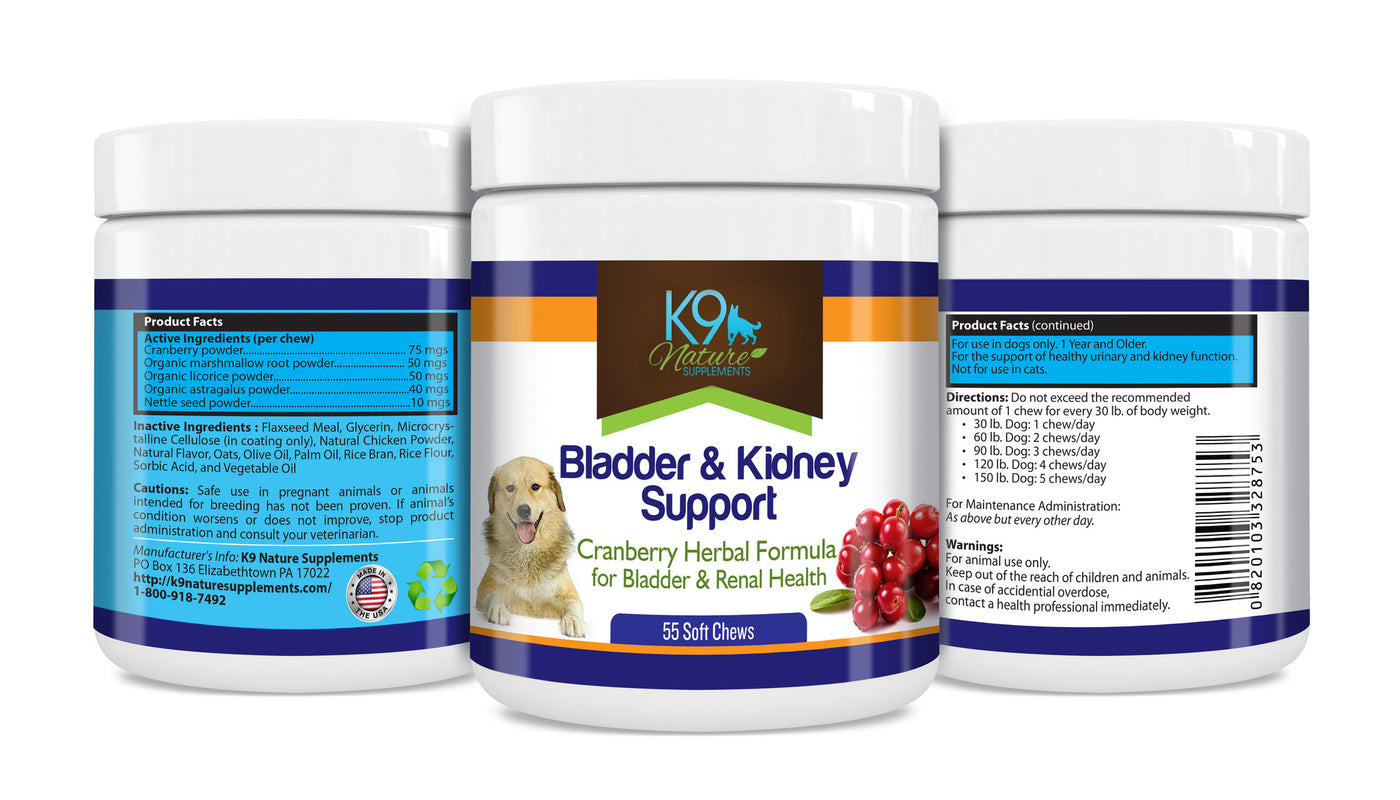 cranberry supplement dog bladder