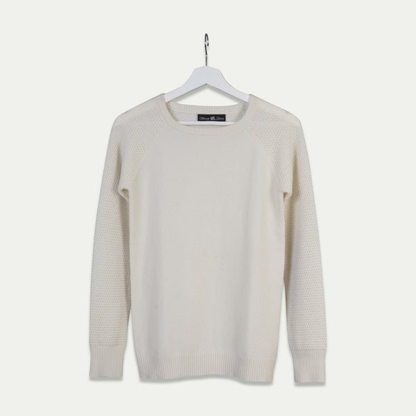 cashmere sweater white