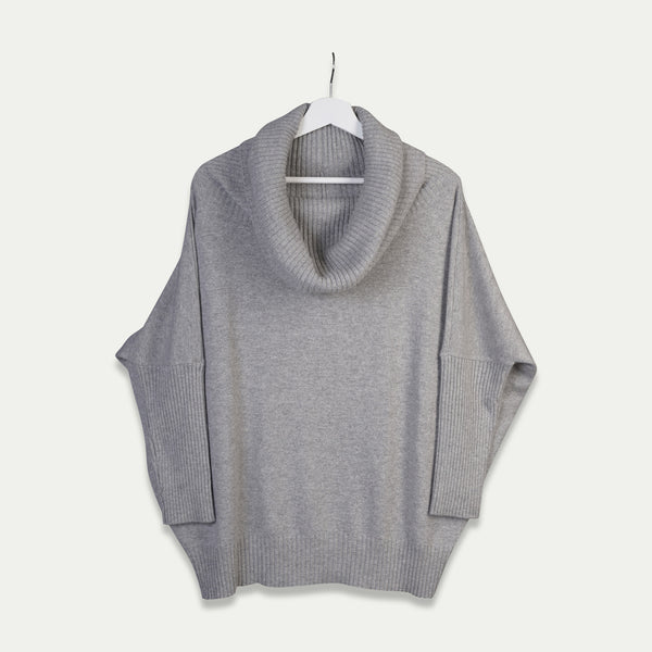 cashmere oversize sweater grey
