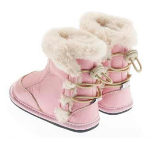 Jack & Lily Boot back lace pink, 6 - 12 months