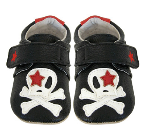 Jac & Lily My Mocs Skull Black 12 - 18 months