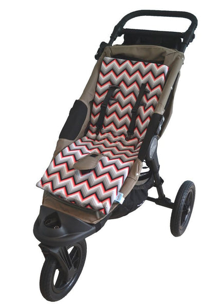 Tivoli Couture luxury stroller liner Chevron Red