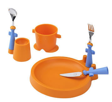Rivadossi Puppets Club children's dining set - Orange