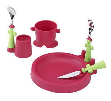 Rivadossi Puppets Club children's dining set - Red