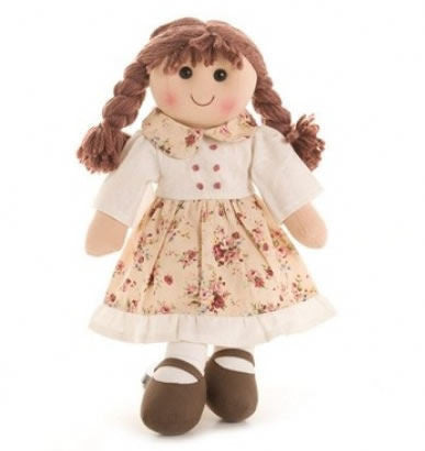 Pomme-Pidou traditional rag doll Desire, 25 cm