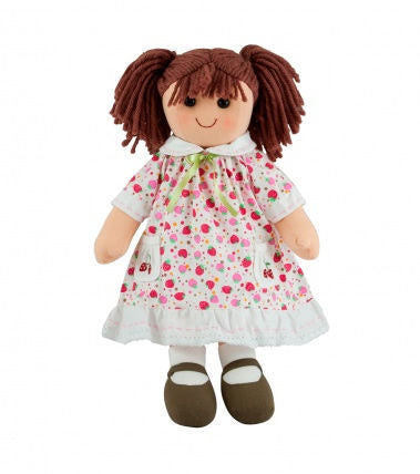Pomme-Pidou traditional rag doll Manou, 25 cm