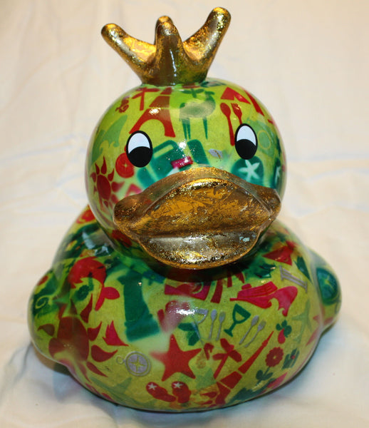 Pomme Pidou ceramic King Duck savings bank Green World