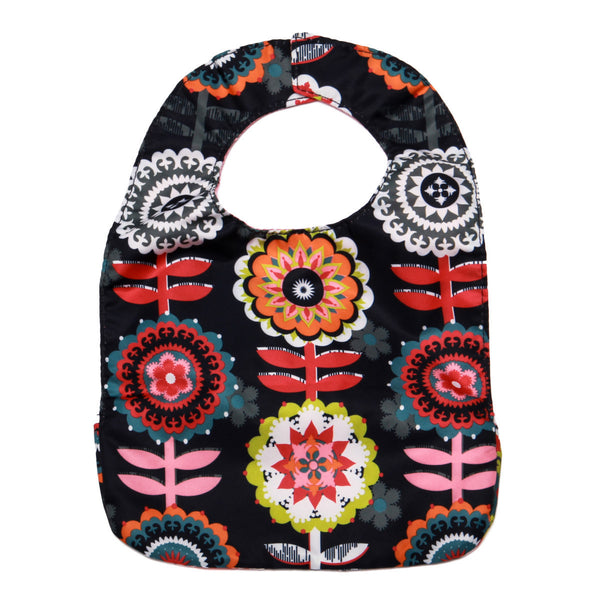 Ju-Ju-Be Be Neat Bib in Dancing Dahlias