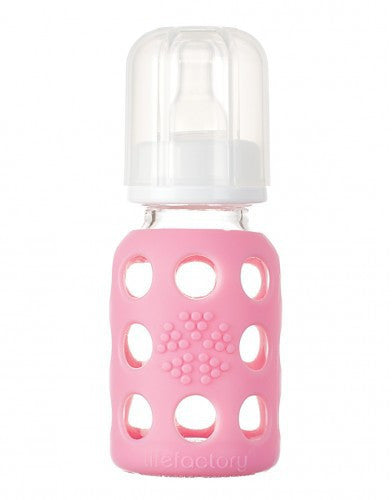 Lifefactory 120 ml baby bottle Pink
