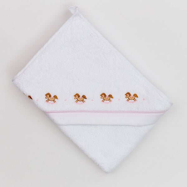 Fortunino Deluxe hooded towel Cavallini in Pink