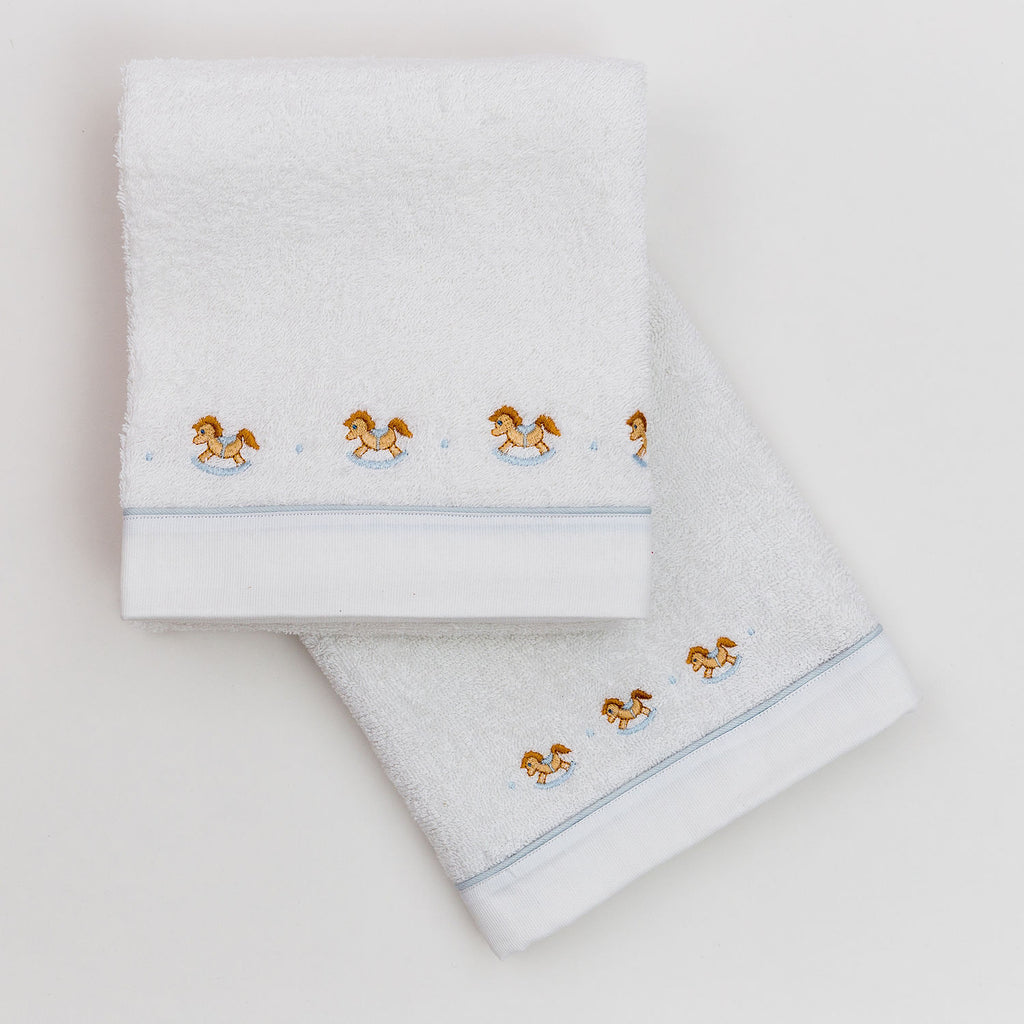 Fortunino Deluxe towel set Cavallini in Blue