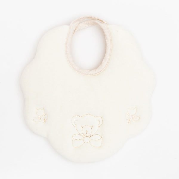 Fortunino Deluxe bib Orsetto in Ivory