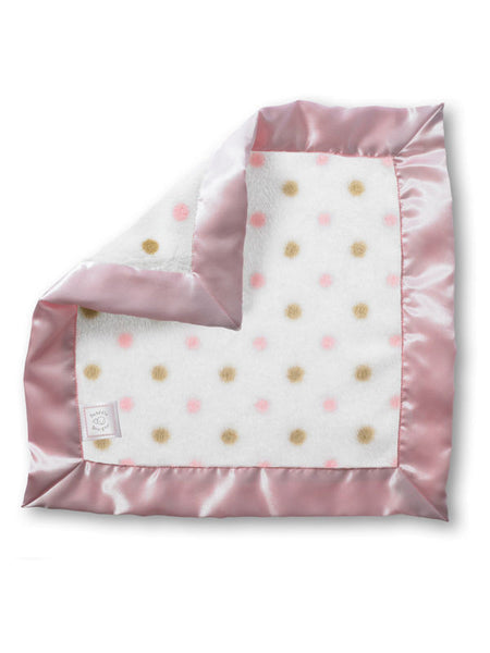 SwaddleDesigns Cozy Baby Lovie Gold Dots with Pastel Pink