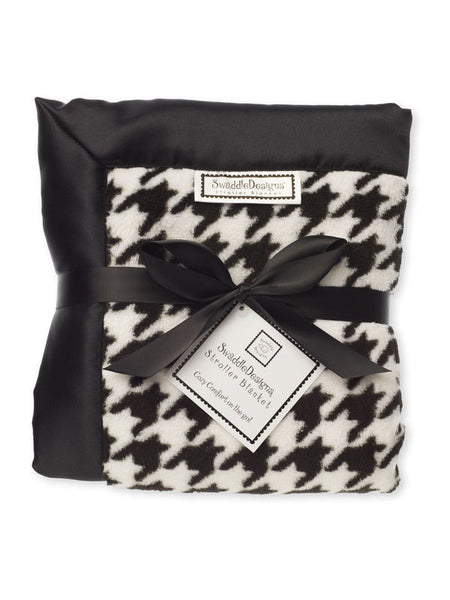 SwaddleDesigns Stroller Blanket Black Puppytooth