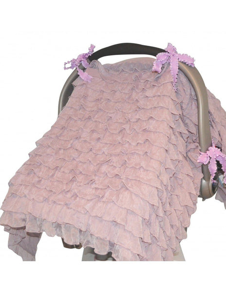 Tivoli Couture multiuse carseat & stroller cover in Soft Lilac