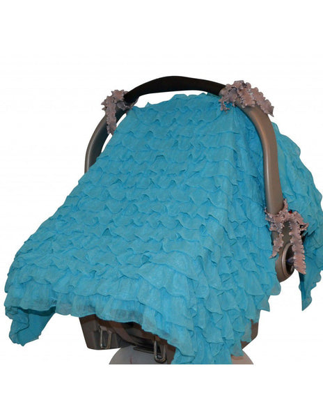 Tivoli Couture multiuse carseat & stroller cover in Turquoise Breeze