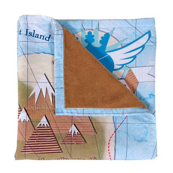 Weegoamigo Treasure Map Adventure Blanket