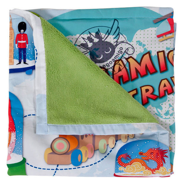 Weegoamigo World Travel Adventure Blanket