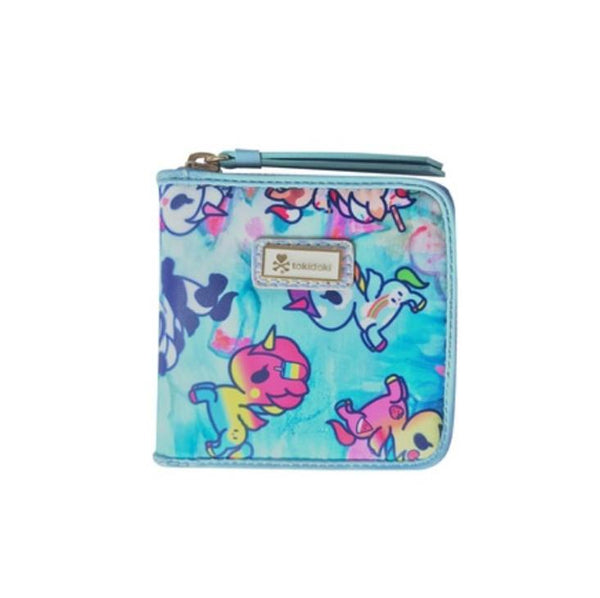 Tokidoki Watercolor Paradise Small Zip Around Wallet