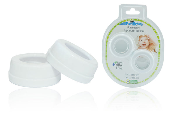 Pacific Baby Bottle Rings 2-pack, White