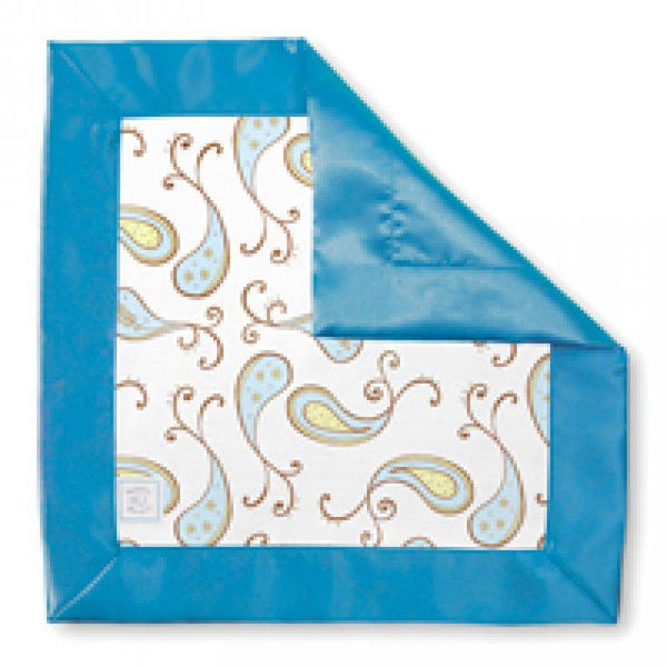SwaddleDesigns Cotton Baby Lovie Triplets Paisley in Pastel Blue