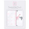 SwaddleDesigns Swaddle Duo Circus Fun Pastel Pink