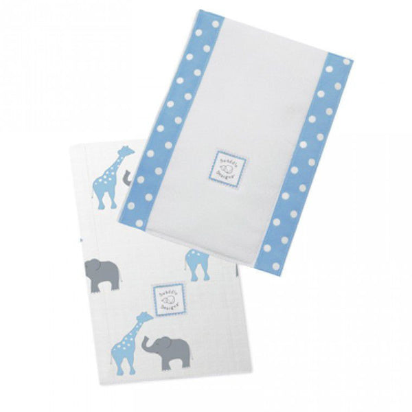 SwaddleDesigns Baby Burpies Safari Fun Pastel Blue