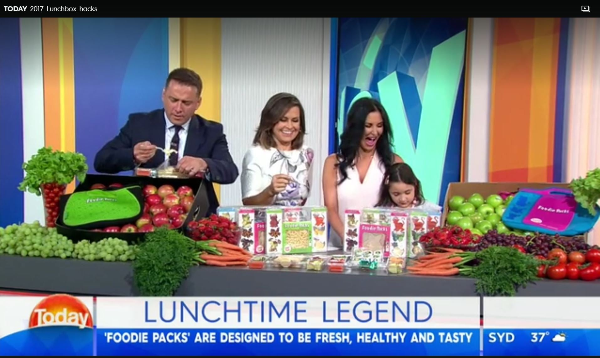 The TODAY Show on Ch9 chat with Alizah Maryanka founder of 'Foodie Packs' Healthy Fresh Nutritious Lunch Packs that are taking the stress out of school lunches.