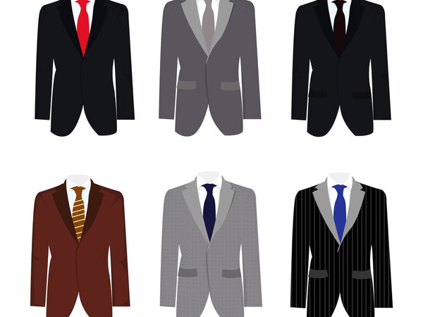 a selection of male formal attire