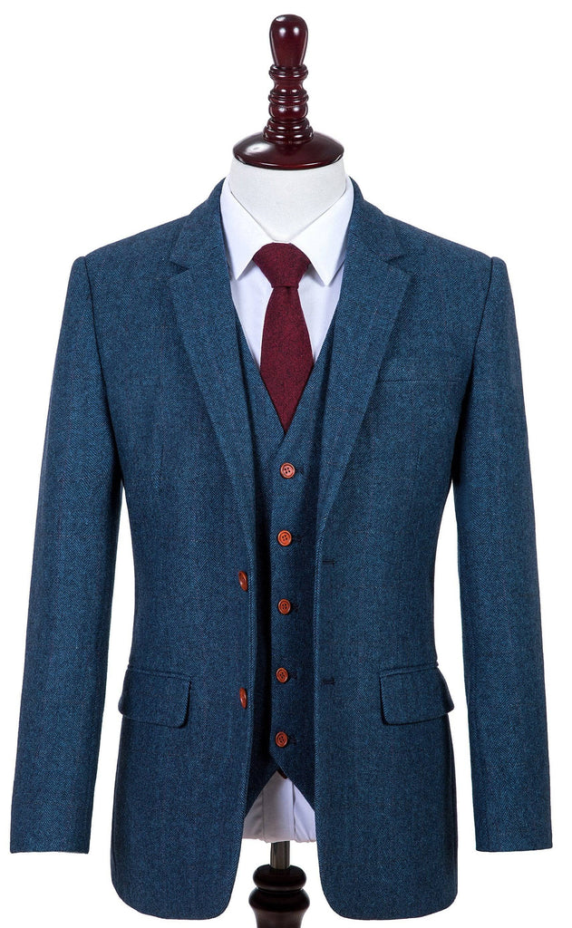Blue Estate Herringbone Tweed 2 Piece