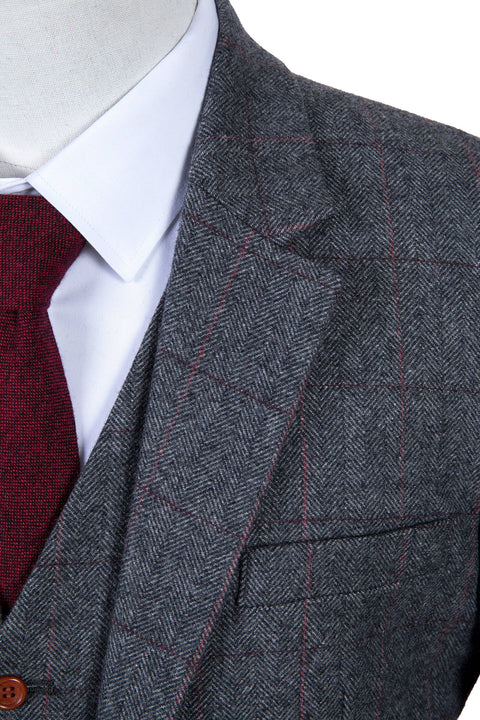 Traditional Grey Estate Herringbone Tweed