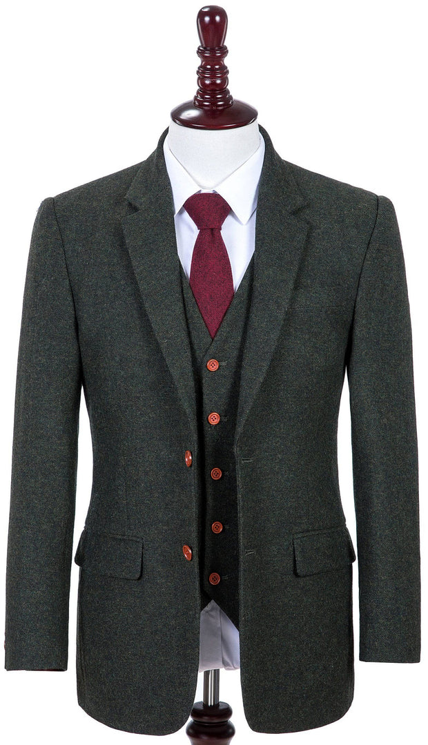 Exmoor Green Barleycorn Tweed 2 Piece