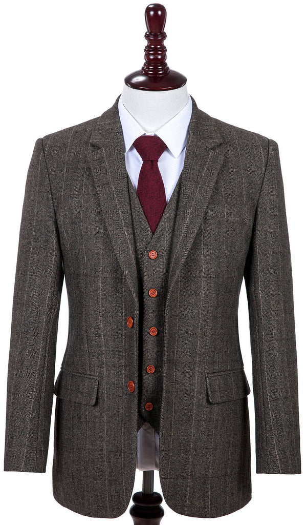 Country Estate Herringbone Tweed 3 Piece