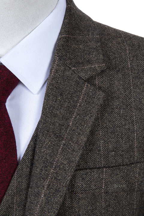 Country Estate Herringbone Tweed Jacket