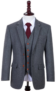 Grey Twill Tweed Jacket