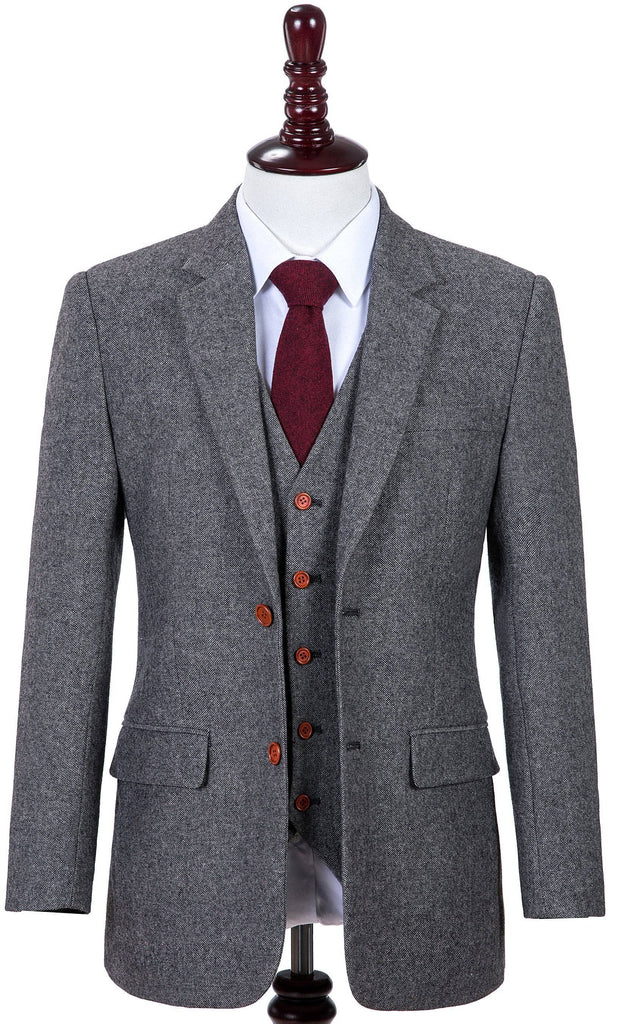 Classic Grey Barleycorn Tweed 2 Piece
