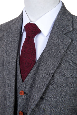 Classic Grey Barleycorn Tweed 3 Piece