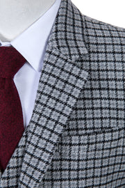 Grey Houndstooth Tweed