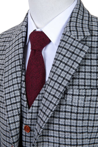 cce688e0a53 Grey Houndstooth Tweed JacketThe Grey Houndstooth Tweed is exquisitely hand  crafted by our artisan tailors and finished with a modern slim fit.