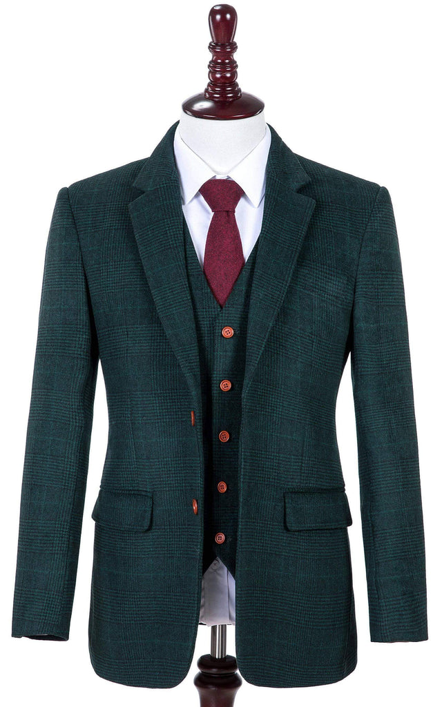 Green Plaid Tweed Jacket