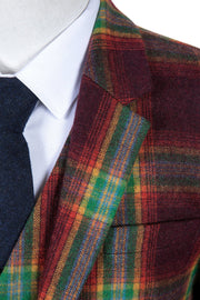 Rainbow Red Plaid Tweed