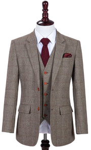 Brown Prince of Wales Tweed Jacket