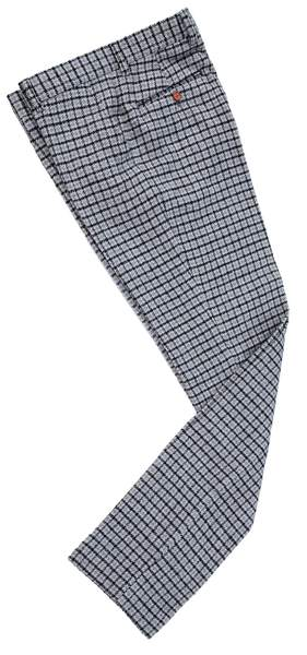 Grey Houndstooth Tweed Trousers