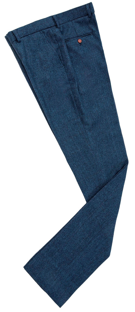 Blue Estate Herringbone Tweed Trousers