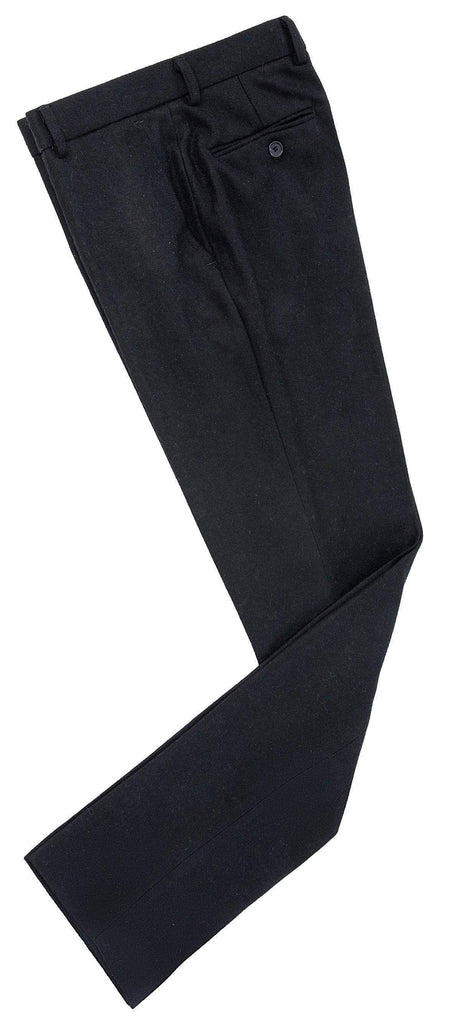Black Twill Tweed Trousers